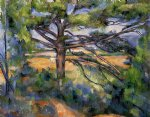 large pine and red earth by paul cezanne painting
