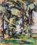 large trees at jas de bouffan by paul cezanne painting