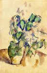 paul cezanne leaves in a green pot painting