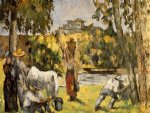paul cezanne life in the fields painting