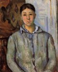 madame cezanne in blue by paul cezanne painting