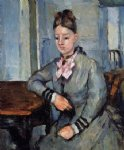 madame cezanne leaning on her elbow by paul cezanne painting