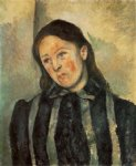 madame cezanne with unbound hair by paul cezanne painting