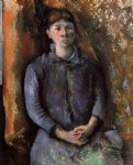 madame cezanne by paul cezanne painting