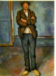man in a room by paul cezanne painting