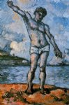 man standing arms extended by paul cezanne painting