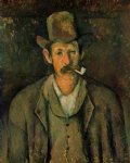 man with a pipe by paul cezanne painting