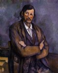 man with crossed arms by paul cezanne painting