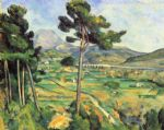 mount sainte victoire seen from bellevue by paul cezanne painting