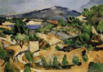 mountains in provence near l estaque by paul cezanne painting