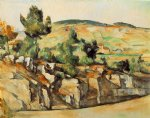 mountains in provence by paul cezanne painting