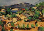 mountains seen from l estaque by paul cezanne painting