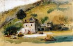 paul cezanne near aix painting