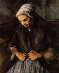 old woman with a rosary by paul cezanne painting
