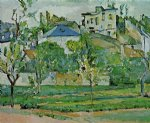 orchard in pontoise by paul cezanne painting