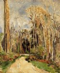 path at the entrance to the forest by paul cezanne painting