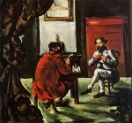 paul alexis reading at zola s house by paul cezanne painting