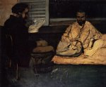 paul alexis reading to zola by paul cezanne painting