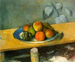 peaches pears and grapes by paul cezanne painting