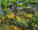 pine tree near aix by paul cezanne painting