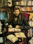 portrait of gustave geffroy by paul cezanne painting