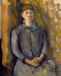 paul cezanne portrait of madame cezanne iv painting