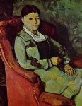 portrait of madame cezanne by paul cezanne painting