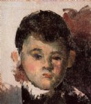 portrait of the artist s son unfinished by paul cezanne painting