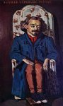 portrait paintings - portrait of the painter achille emperaire by paul cezanne