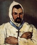 portrait paintings - portrait of uncle dominique as a monk by paul cezanne