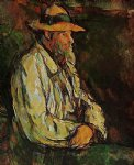 portrait of vallier by paul cezanne painting