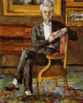 portrait of victor chocquet seated by paul cezanne painting