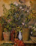 potted plants by paul cezanne painting