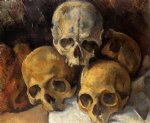 pyramid of skulls iii by paul cezanne painting