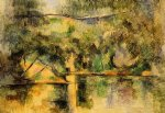reflections in the water by paul cezanne painting