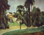 road at pontoise by paul cezanne painting