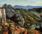 rocks at l estaque by paul cezanne painting