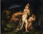 satyres and nymphs by paul cezanne painting