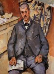 seated man by paul cezanne painting
