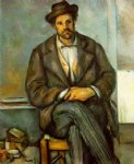 seated peasant ii by paul cezanne painting