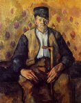 seated peasant by paul cezanne painting
