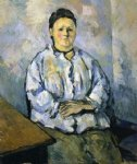 seated woman ii by paul cezanne painting