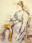 seated woman by paul cezanne painting
