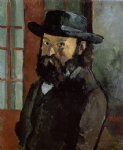 self portrait 4 by paul cezanne painting