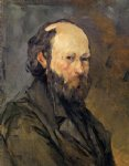 portrait paintings - self portrait 8 by paul cezanne