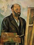 self portrait with palette by paul cezanne painting