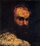 self portrait by paul cezanne painting
