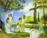 six women bathing by paul cezanne painting