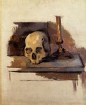 skull by paul cezanne painting