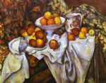 still life with apples and oranges by paul cezanne painting